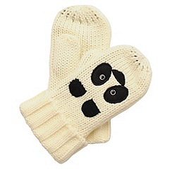 Regatta - Black/white- panda kids viva animal mitts