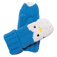 Regatta - Blue - penguin kids viva animal mitts