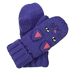 Regatta - Kids Purple cat animally mitts