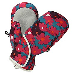 Regatta - Girls Pink flower spatter padded mitts