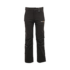 Regatta - Black kids heathtek stretch trouser