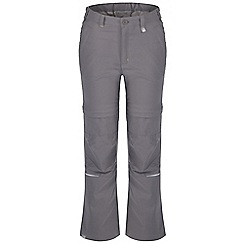 Regatta - Kids Grey heathtek stretch zip off trousers