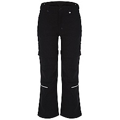 Regatta - Kids Black heathtek stretch zip off trousers