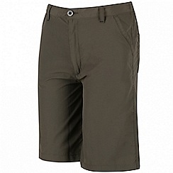 Regatta - Kids Green sorcer crease resistant shorts