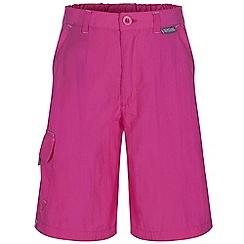 Regatta - Kids pink soccer crease resistant shorts