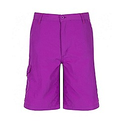Regatta - Girls' purple Sorcer quick drying short