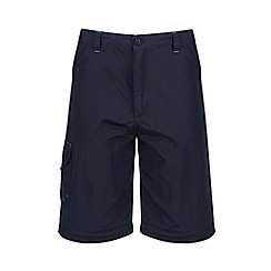 Regatta - Kids Blue sorcer zip off trousers