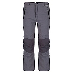 Regatta - Kids Grey Sorcer showerproof trouser