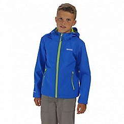 Regatta - Boys' blue Tyson softshell jacket