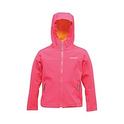 Regatta - Pink/ yellow kids tyson jacket