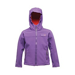 Regatta - Purple/ pink kids tyson jacket