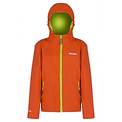 Regatta - Kids Orange Tyson softshell jacket