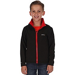 Regatta - Black/ red kids canto jacket