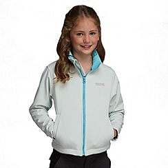 Regatta - White/ aqua kids canto jacket