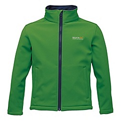Regatta - Bright green/ navy kids canto jacket