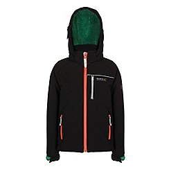 Regatta - Boys Black jolly wind resistant softshell