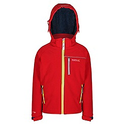 Regatta - Boys Red jolly wind resistant softshell
