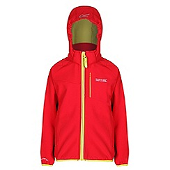 Regatta - Boys Red turbodrop wind resistant softshell