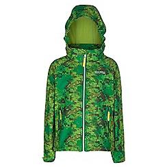 Regatta - Kids Green clopin wind resistant printed jacket