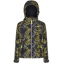 Regatta - Kids Grey clopin wind resistant printed jacket