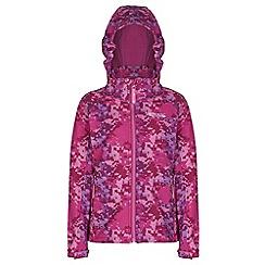 Regatta - Kids Pink clopin wind resistant printed jacket