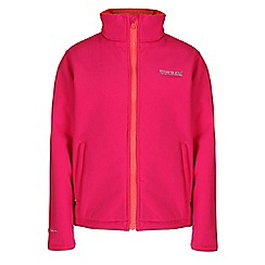 Regatta - Girls Pink kids tato wind resistant sofshell