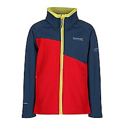 Regatta - Girls Red kids swizzle wind resistant softshell