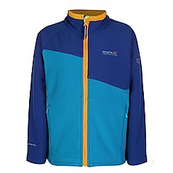 Regatta - Boys Blue kids swizzle wind resistant softshell