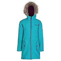 Regatta - Girls Turquoise starley wind resistant softshell