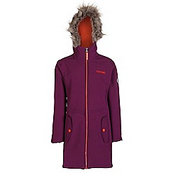 Regatta - Girls Blackcurrant starley wind resistant softshell