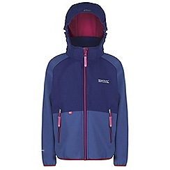Regatta - Kids Blue arowana lightweight softshell jacket