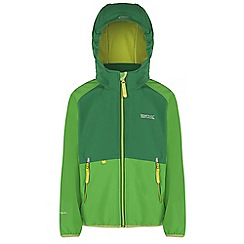 Regatta - Kids Green arowana lightweight softshell jacket