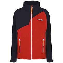 Regatta - Boys Orange vargo softshell jacket