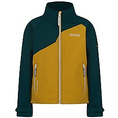 Regatta - Kids Yellow Vargo softshell jacket