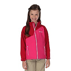 Regatta - Girls Pink vargo softshell jacket