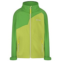 Regatta - Boys Green vargo softshell jacket