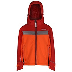 Regatta - Kids Orange Drizzle softshell jacket