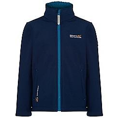 Regatta - Kids Blue Tato softshell jacket