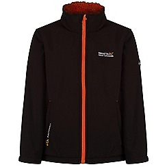 Regatta - Kids Black Tato softshell jacket
