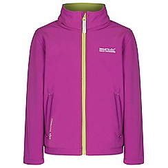 Regatta - Kids Purple Tato softshell jacket
