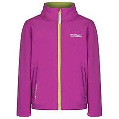 Regatta - Kids Purple Tato softshell jacket