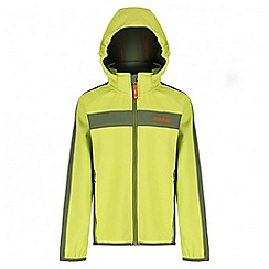Regatta - Boys' lime green Arowana sotshell jacket