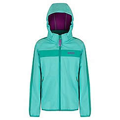 Regatta - Girls' mint green arowana sotshell jacket