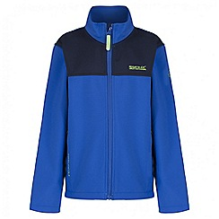 Regatta - Boys' blue Vargo softshell jacket