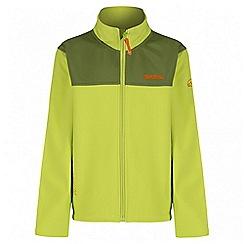 Regatta - Boys' lime green Vargo softshell jacket