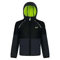 Regatta - Kids Black 'Hydronic' softshell jacket