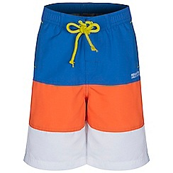 Regatta - Boys Strngblu/pep skooba swim shorts