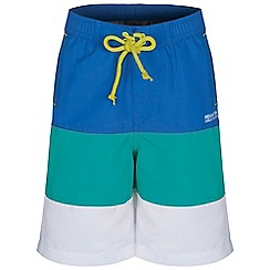 Regatta - Boys Blue/teal skooba swim shorts