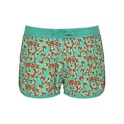 Regatta - Girls' green frilla swim short