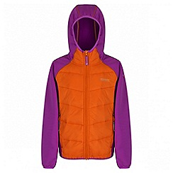 Regatta - Girls' orange kielder hybrid showerproof jacket